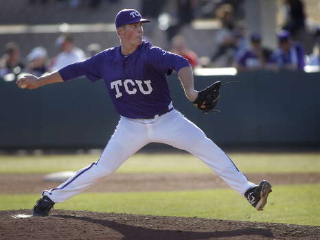 TCU Brian Trieglaff Redshirt freshman Righthanded pitcher High school: Houston Christian  After his senior season, Trieglaff was selected to participate in the USA Baseball National Team Identification Series. Photo: Fort Worth Star-Telegram, MCT Via Getty Images / 2014 MCT