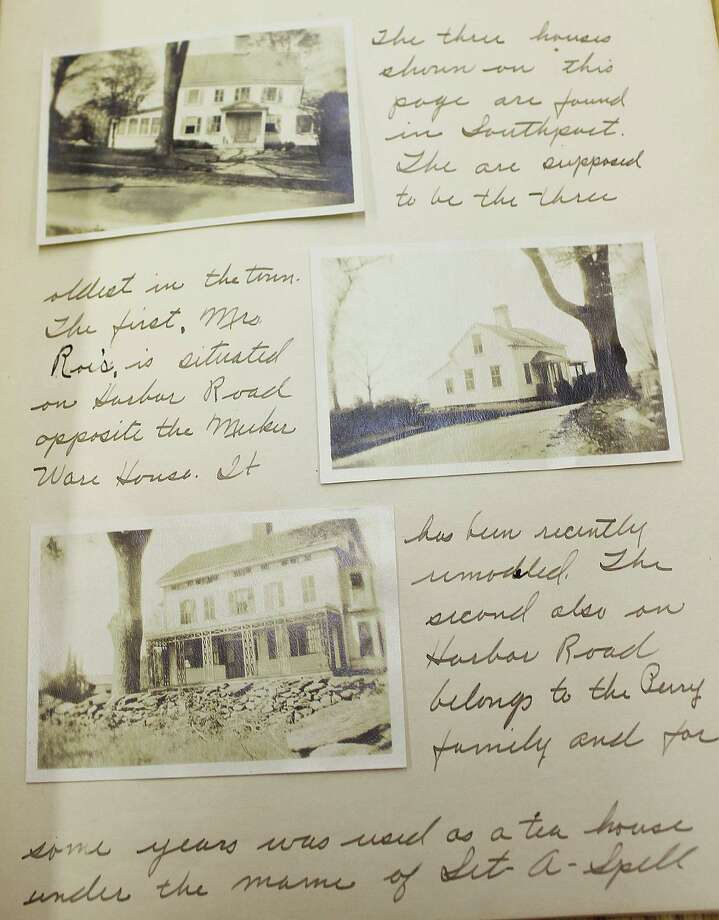 Charlotte Bulkely's scrapbook is one of the items on display in  ìPages from Pequot: Local History,î a Pequot Library exhibit honoring the town's 375th anniversary. Photo: Contributed Photo / Fairfield Citizen