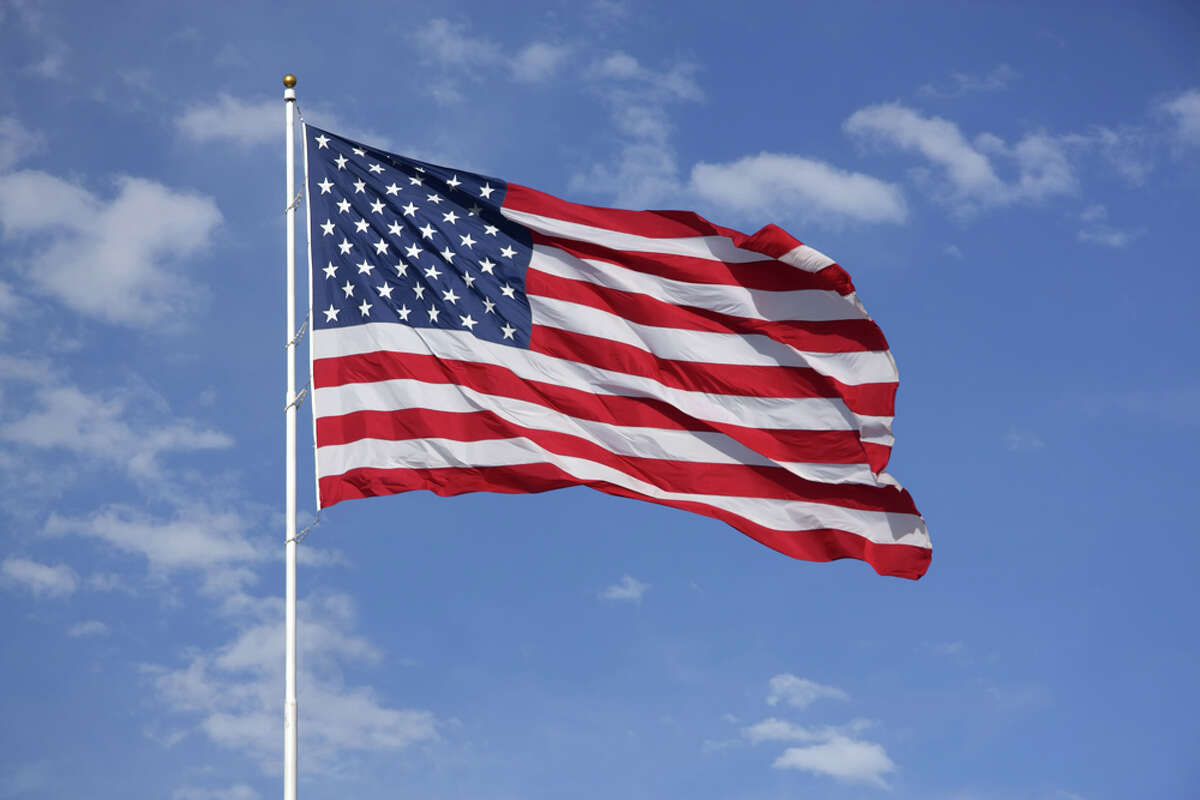 The American Flag is probably our most easily recognized national symbol. The current version's been around in 1960, after Alaska and Hawaii became the last two states added to the Union.