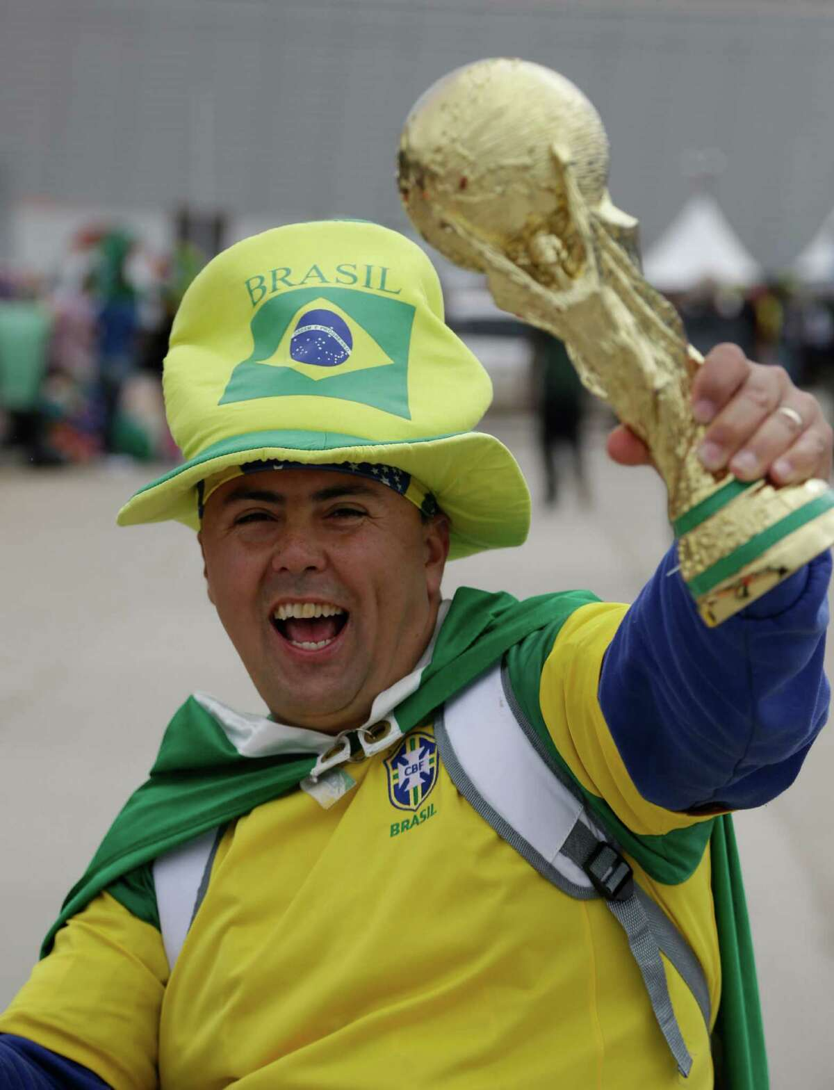 Wish you were in Brazil right now? Try one of these 13 spots around the Alamo City to satisfy your soccer sweet tooth.PHOTO: A Brazilian soccer fan holds a replica of the World Cup trophy one day before the opening World Cup soccer match in Itaquerao Stadium in Sao Paulo, Brazil, Wednesday, June 11, 2014.