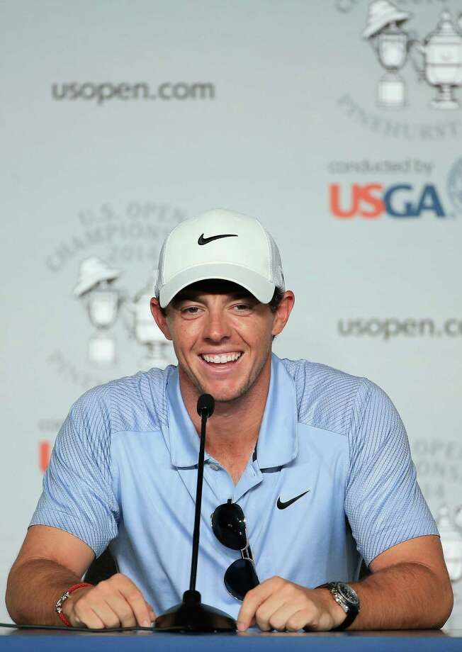 PINEHURST, NC - JUNE 11:  Rory McIlroy of Northern Ireland is interviewed during a press conference prior to the start of the 114th U.S. Open at Pinehurst Resort & Country Club, Course No. 2 on June 11, 2014 in Pinehurst, North Carolina.  (Photo by David Cannon/Getty Images) ORG XMIT: 461911121 Photo: David Cannon / 2014 Getty Images