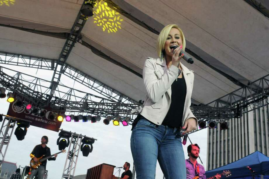 Kellie Pickler performs at the Empire State Plaza on Wednesday June 11, 2014 in Albany, N.Y.  (Michael P. Farrell/Times Union) Photo: Michael P. Farrell / 00027117A