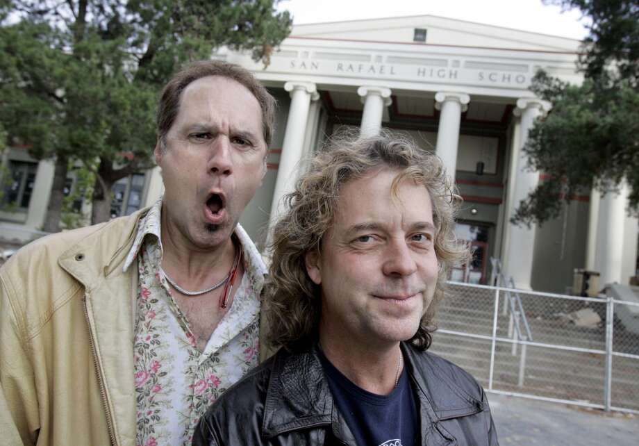 "6. NIGHT RANGER (July 5, Marin County Fair; July 6, Alameda County Fair) Original Night Rangers Kelly Keagy and Jack Blades pose in front of San Rafael High School, the site of their ""Sister Christian"" video. Fair fact: If you drink enough cheap fair wine, you will think you're in the ""Sister Christian"" video as well. Photo: Katy Raddatz, SFC"