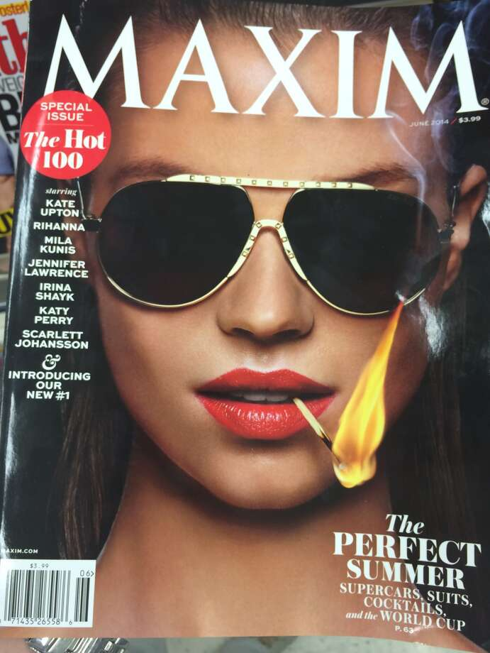 Maxim's June 2014 edition that included the controversial ad from a San Antonio law firm.