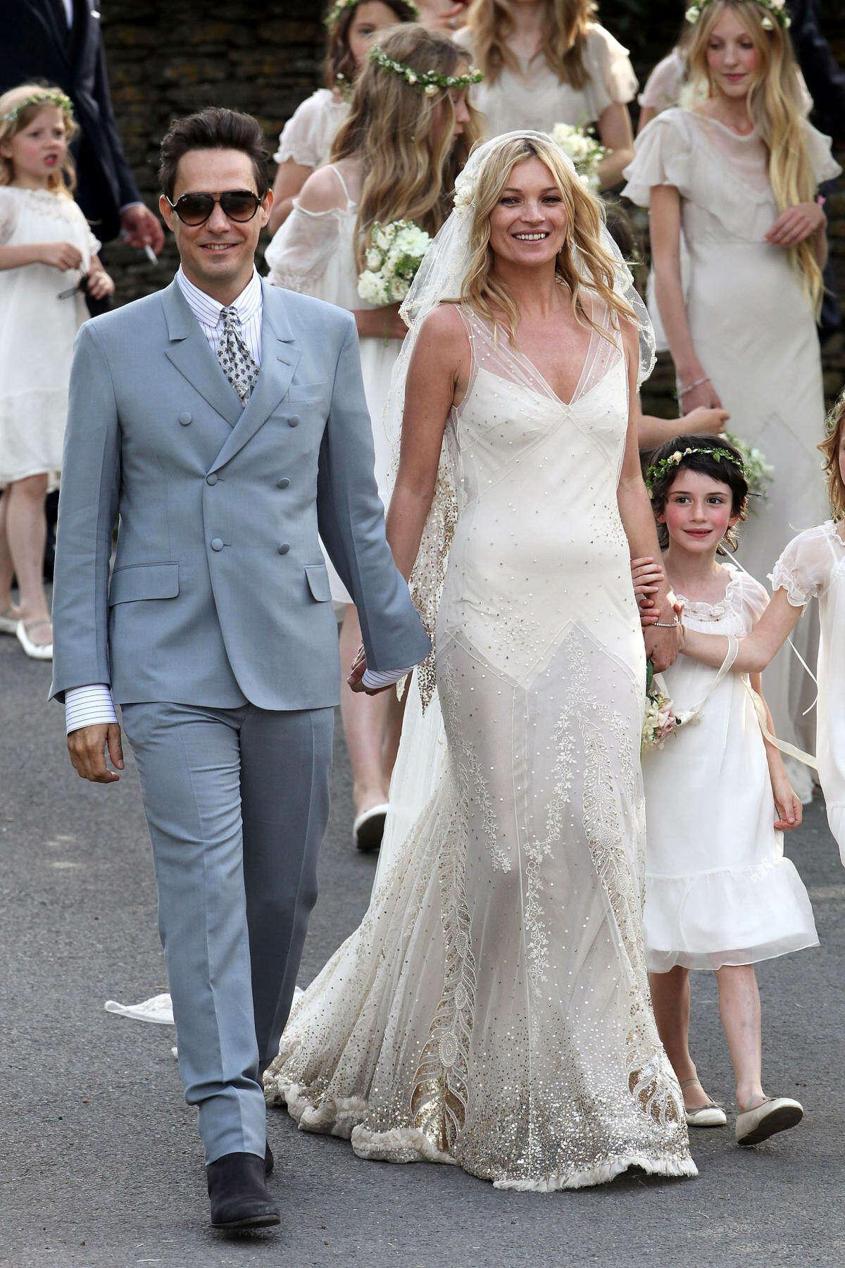 Kate Moss married Jamie Hince on July 1, 2011.