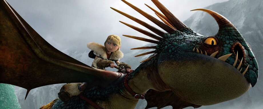 "Astrid, voiced by America Ferrera, prepares to take to the sky in ""How To Train Your Dragon 2."" Photo: DreamWorks Animation, HOEP / DreamWorks Animation"