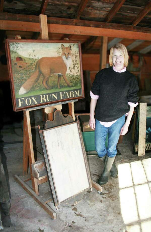 Connecticut artist Heidi Howard has spent about the past 10 years creating paintings and signs inspired by the tavern signs that adorned establishments hundreds of years ago. A show of some of her work is on display in Wilton, Conn., until July. Contributed photo/Jen Dean Brown Photo: Contributed Photo / Stamford Advocate Contributed photo