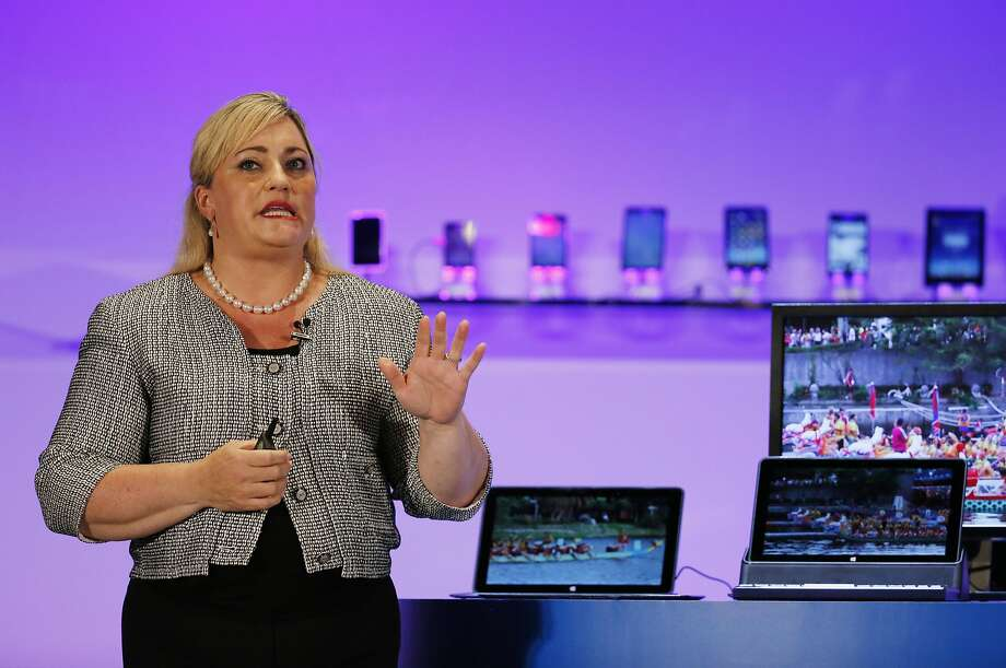 Intel President Renee James delivers the keynote speech at the opening of Computex in Taiwan last week. Photo: Wally Santana, Associated Press