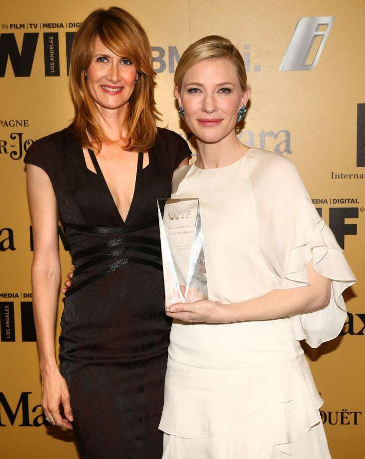 Actress Laura Dern (L) and actress Cate Blanchett, Crystal Award for Excellence in Film award recipient, attend Women In Film 2014 Crystal + Lucy Awards presented by MaxMara, BMW, Perrier-Jouet and South Coast Plaza held at the Hyatt Regency Century Plaza on June 11, 2014 in Los Angeles, California. Photo: Christopher Polk, (Credit Too Long, See Caption)