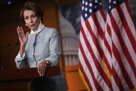 WASHINGTON, DC - JUNE 12:  U.S. House Minority Leader Rep. Nancy Pelosi (D-CA) speaks during a news conference June 12, 2014 on Capitol Hill in Washington, DC. Pelosi held her weekly news conference to answer questions from members of the media.  (Photo by Alex Wong/Getty Images)