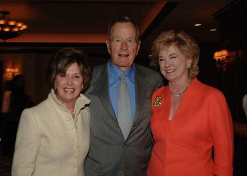 Rita Madden, left, and Patsy Fourticq chair the St. Luke's Friends of Nursing luncheon a the Houstonian Hotel, Club & Spa where former President George Bush was guest speaker. Photo: Alexander's Fine Portrait Design / handout