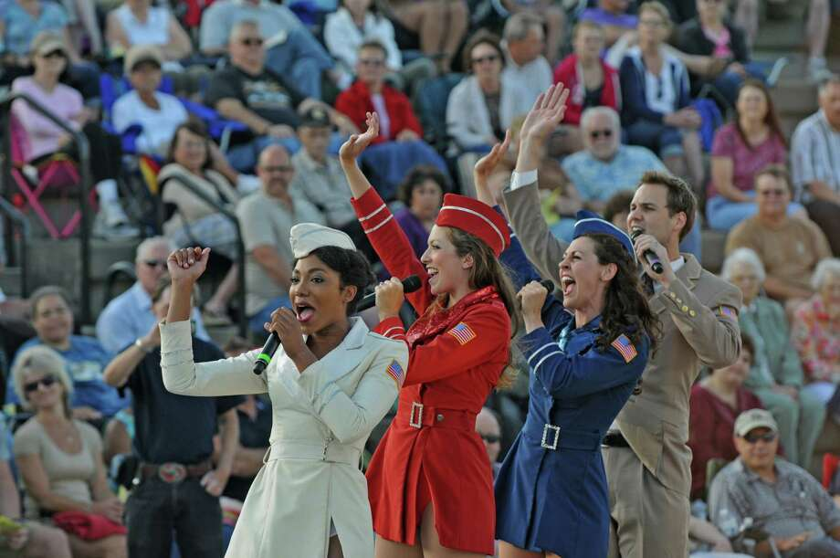 The U.S.O. Liberty Bells perform during the 10th Annual Albany Father's Day Concert at Albany Riverfront Park, on Sunday evening June 17, 2012 in Albany, NY. (Philip Kamrass / Times Union) ORG XMIT: MER2014060415165067 Photo: Philip Kamrass / 00018105A