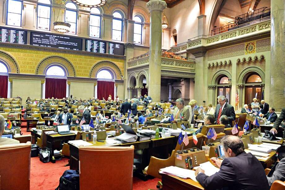 The NYS Assembly in session at the Capitol Tuesday June 10, 2014, in Albany, NY.  (John Carl D'Annibale / Times Union) Photo: John Carl D'Annibale, Albany Times Union