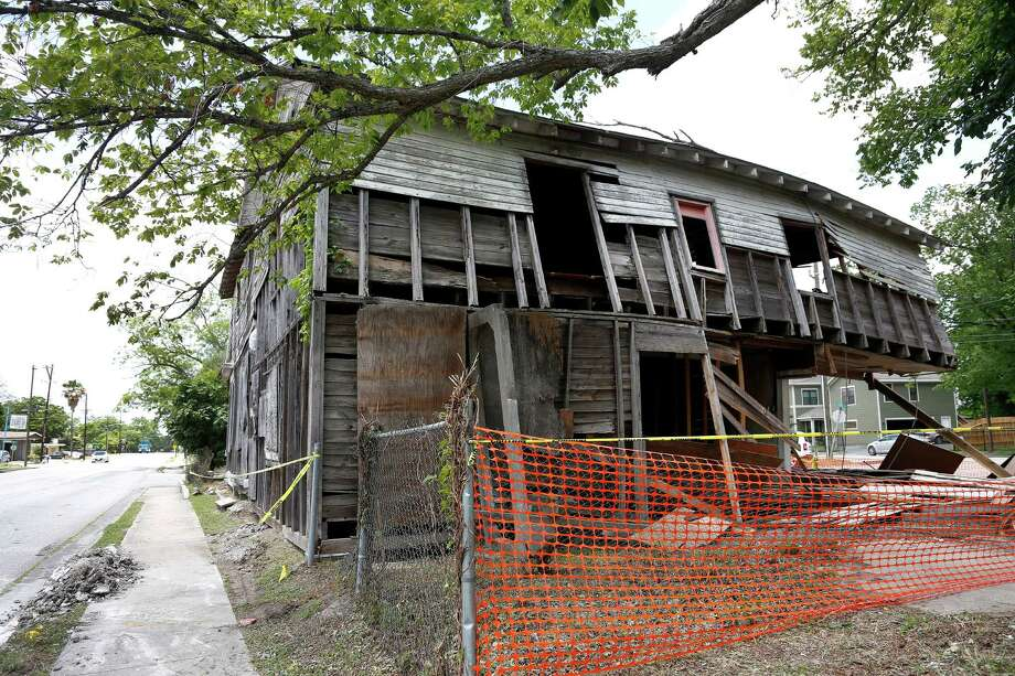 The former city hall in Independence Heights, one of the structures listed on the National Historic Register, photographed in 2014, shortly before it was demolished. Independence Heights was the first African-American community incorporated in Texas. Photo: Karen Warren, Staff / © 2014 Houston Chronicle