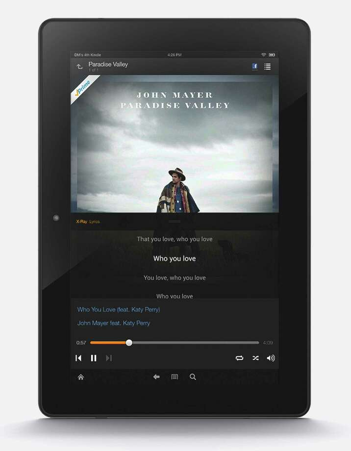 This product image released by Amazon features the company's new Prime Music streaming service. Starting Thursday, June 12, 2014, Amazon.com Inc. will offer more than a million tracks for ad-free streaming and download to Kindle Fire tablets as well as to computers and the Amazon Music app for Apple and Android devices. (AP Photo/Amazon) ORG XMIT: LA112 / Amazon