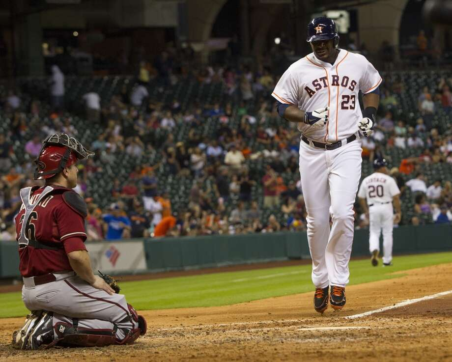 June 11: Astros 5, Diamondbacks 1Chris Carter homered twice and Dallas Keuchel pitched eight strong innings in the victory.   Record: 30-37. Photo: Brett Coomer, Houston Chronicle
