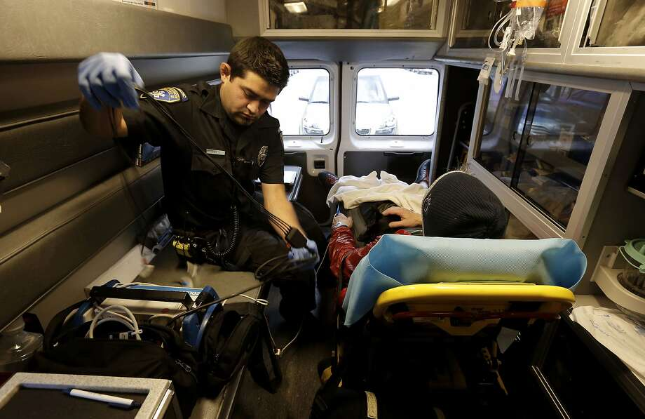San Francisco limits private ambulance providers like the King-American Ambulance service, where paramedic Cory Yeo works. Photo: Michael Macor, The Chronicle