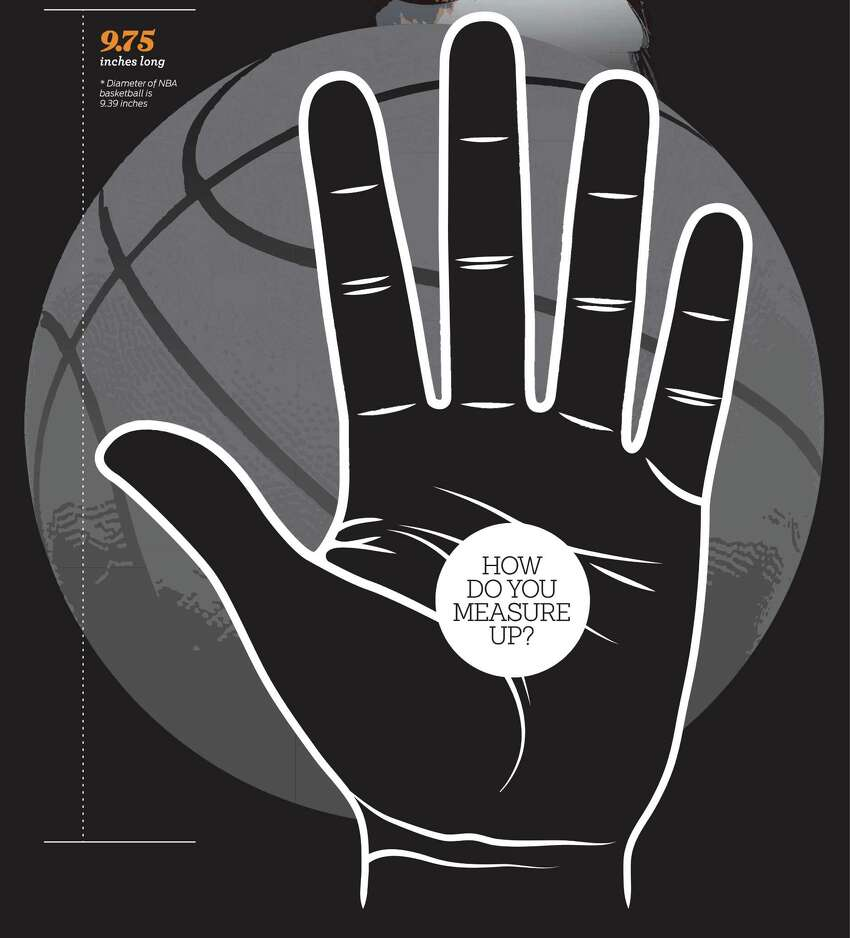 Close up of poster of Kawhi Leonard's hand printed in the San Antonio Express-News on Thursday, June 12, 2014.