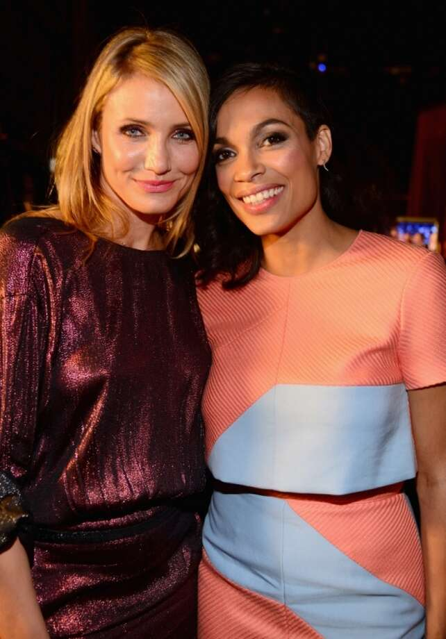 "Actresses Cameron Diaz (L) and Rosario Dawson attend Spike TV's ""Guys Choice 2014"" at Sony Pictures Studios on June 7, 2014 in Culver City, California. Photo: Frazer Harrison, Getty Images For Spike TV"