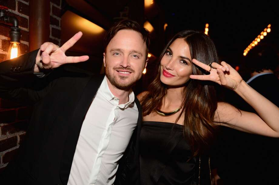 "Actor Aaron Paul ( L) and model Lily Aldridge attend Spike TV's ""Guys Choice 2014"" at Sony Pictures Studios on June 7, 2014 in Culver City, California. Photo: Frazer Harrison, Getty Images For Spike TV"