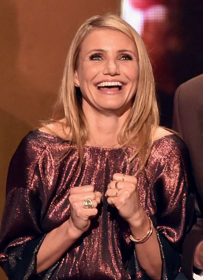 "Actress Cameron Diaz speaks onstage during Spike TV's ""Guys Choice 2014"" at Sony Pictures Studios on June 7, 2014 in Culver City, California. Photo: Kevin Winter, Getty Images For Spike TV"
