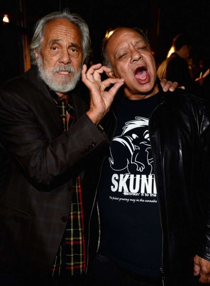 "Actors Tommy Chong (L) and Cheech Marin attens Spike TV's ""Guys Choice 2014"" at Sony Pictures Studios on June 7, 2014 in Culver City, California. Photo: Frazer Harrison, Getty Images For Spike TV"