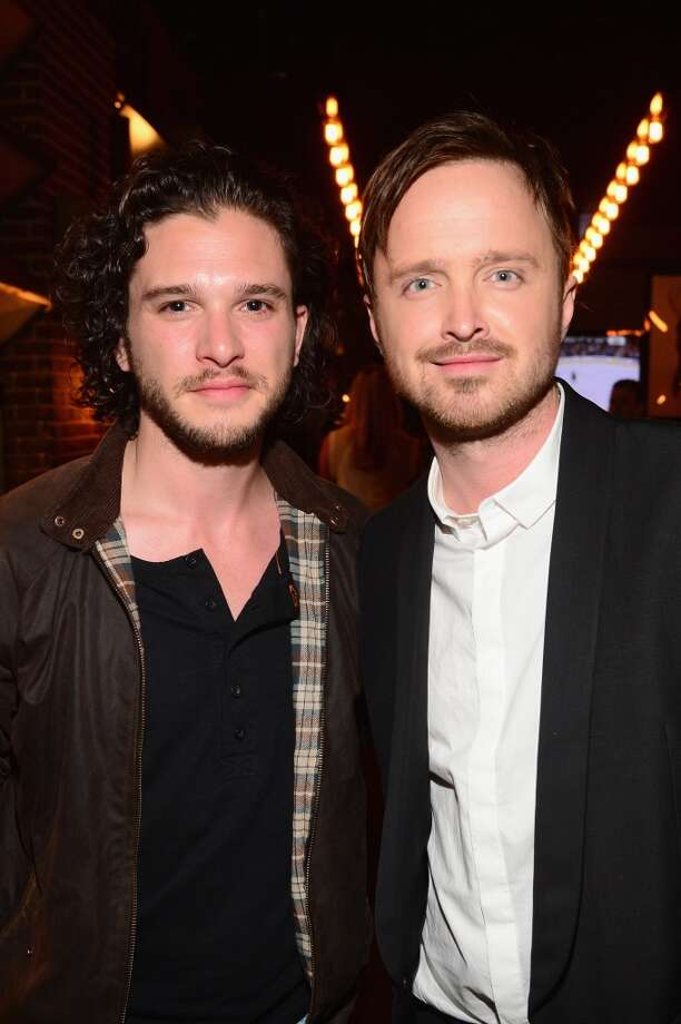 "Actors Kit Harington (L) and Aaron Paul attends Spike TV's ""Guys Choice 2014"" at Sony Pictures Studios on June 7, 2014 in Culver City, California. Photo: Frazer Harrison, Getty Images For Spike TV"