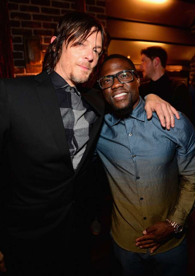 "Actors Norman Reedus and Kevin Hart attend Spike TV's ""Guys Choice 2014"" at Sony Pictures Studios on June 7, 2014 in Culver City, California. Photo: Frazer Harrison, Getty Images For Spike TV"