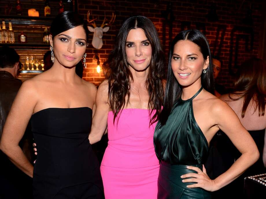 """Model Camila Alves, actresses Sandra Bullock, and Olivia Munn attend Spike TV's """"Guys Choice 2014"""" at Sony Pictures Studios on June 7, 2014 in Culver City, California. Photo: Frazer Harrison, Getty Images For Spike TV"""