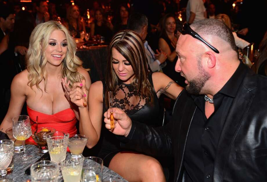 "Professional wrestlers Taryn Terrell, Jamie Lynn Szantyr and Bully Ray attend Spike TV's ""Guys Choice 2014"" at Sony Pictures Studios on June 7, 2014 in Culver City, California. Photo: Frazer Harrison, Getty Images For Spike TV"