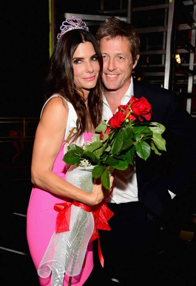 "Actors Sandra Bullock and Hugh Grant attend Spike TV's ""Guys Choice 2014"" at Sony Pictures Studios on June 7, 2014 in Culver City, California. Photo: Frazer Harrison, Getty Images For Spike TV"
