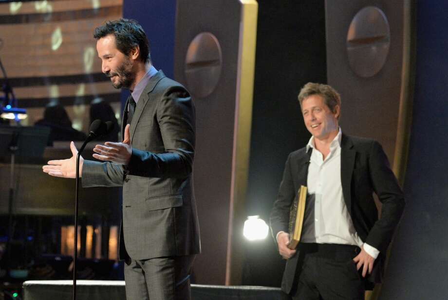 "Actor Keanu Reeves speaks onstage during Spike TV's ""Guys Choice 2014"" at Sony Pictures Studios on June 7, 2014 in Culver City, California. Photo: Frazer Harrison, Getty Images For Spike TV"