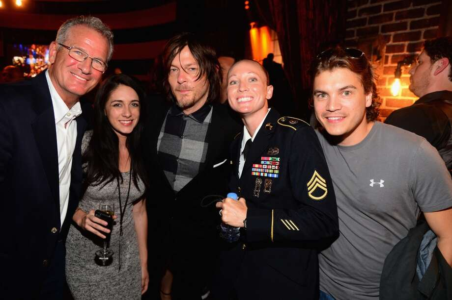 "(L-R) Neil Holt, Norman Reedus, guest and Emile Hirsch attend Spike TV's ""Guys Choice 2014"" at Sony Pictures Studios on June 7, 2014 in Culver City, California. Photo: Frazer Harrison, Getty Images For Spike TV"