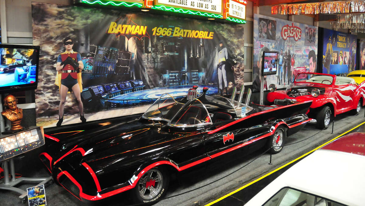 You'll find this 1966 TV series Batmobile, by visionary designer/customizer George Barris, at the Volo Auto Museum in Volo, Ill.