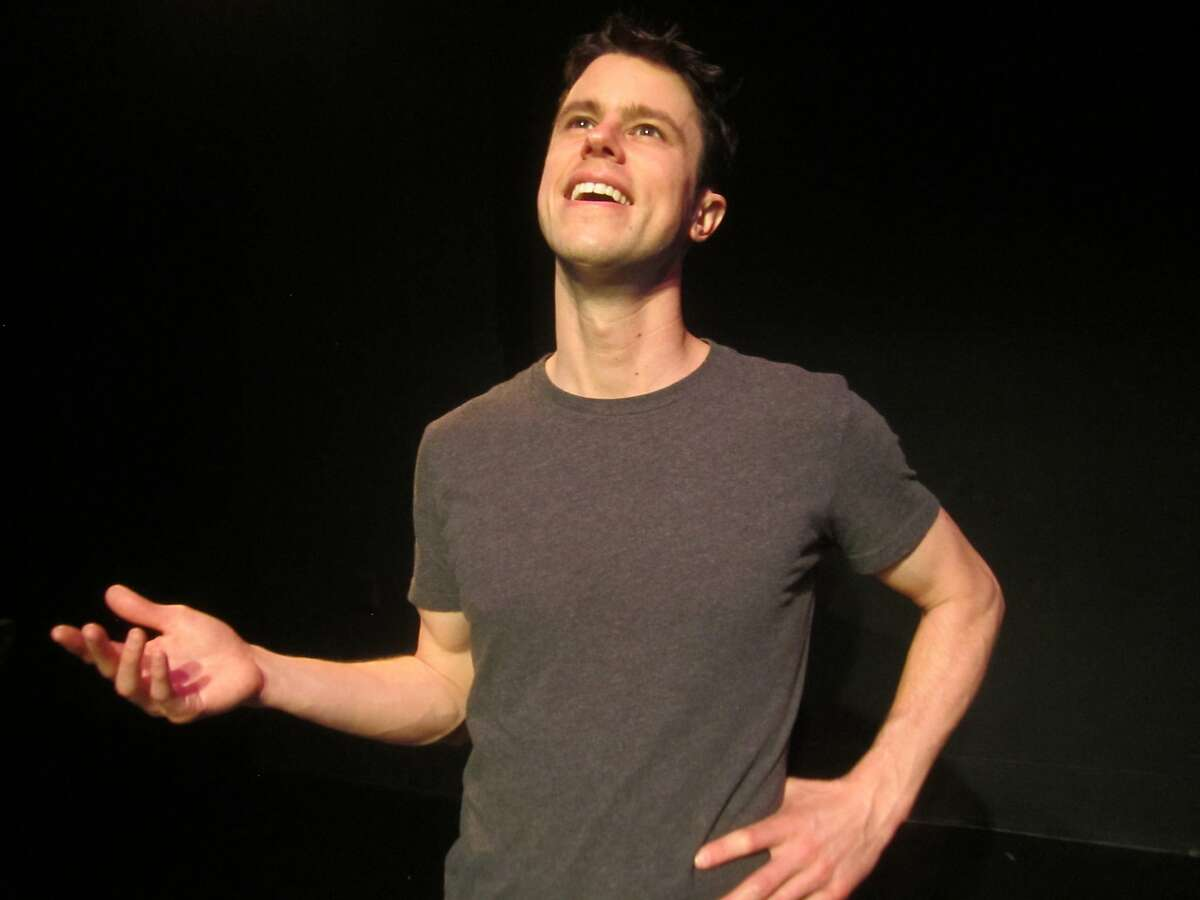 Dan Hoyle in his one-man show