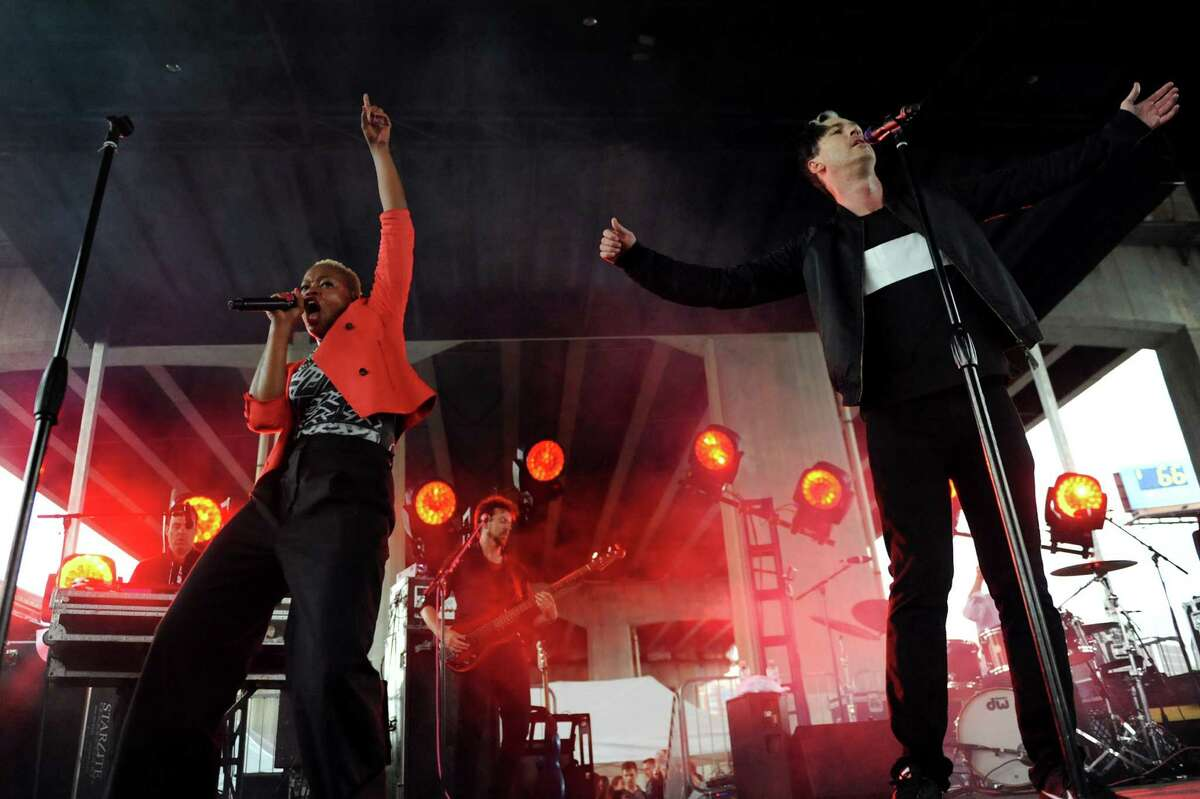 Fitz and the Tantrums performs during Alive at Five on Thursday, June 12, 2014, at the Corning Preserve Boat Launch in Albany, N.Y. (Cindy Schultz / Times Union)