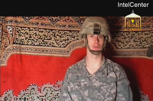 This is an image from video made available by IntelCenter shows a video frame grab from the Taliban propaganda video released Friday Dec. 25, 2009 purportedly showing U.S. soldier Pfc. Bowe Bergdahl, 23, of Ketchum Idaho who was captured more than five months ago in eastern Afghanistan.It could not be confirmed immediately that it was Bergdahl in the new video, which was released to The Associated Press and other news organizations. The man identifies himself as Bergdahl, born in Sun Valley, Idaho, and gives his rank, birth date, blood type, his unit and mother's maiden name before beginning a lengthy verbal attack on the U.S. conduct of the war in Afghanistan and its relations with Muslims. (AP Photo/via IntelCenter) IntelCenter Logo must not be cropped NO SALES Photo: AP / IntelCenter