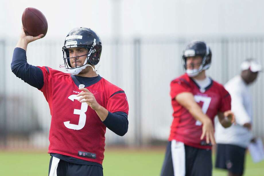 The Texans like the way rookie Tom Savage (3) has embraced the learning process that goes with becoming an NFL quarterback. Photo: Brett Coomer, Staff / © 2014 Houston Chronicle