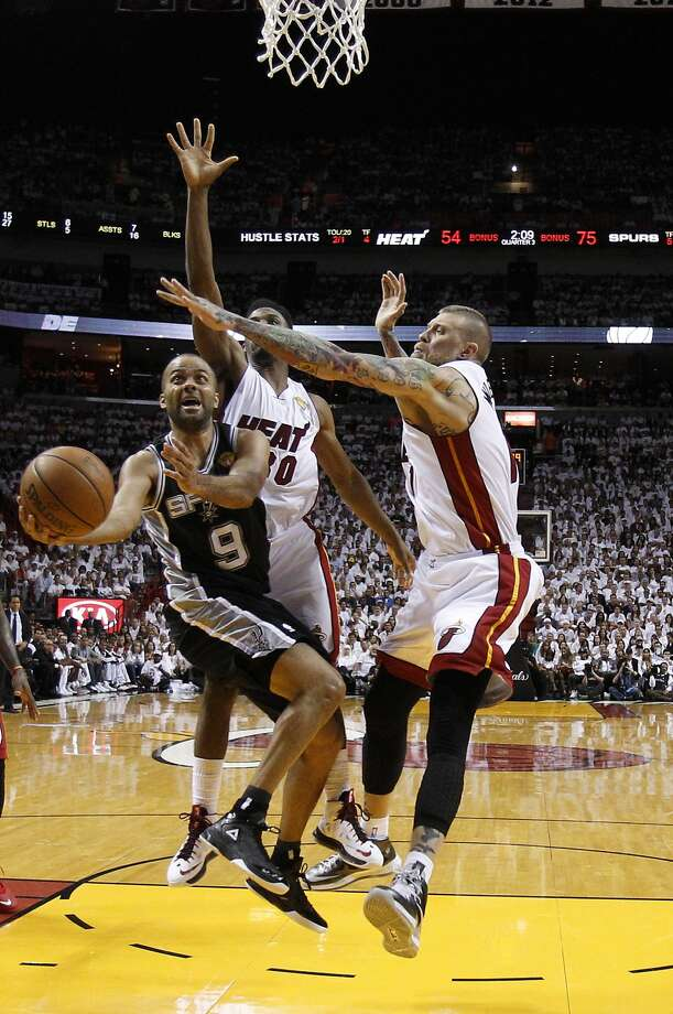 Tony Parker caused all kinds of trouble for the Heat. He scored 19 points and had two assists. Photo: Wilfredo Lee, Associated Press