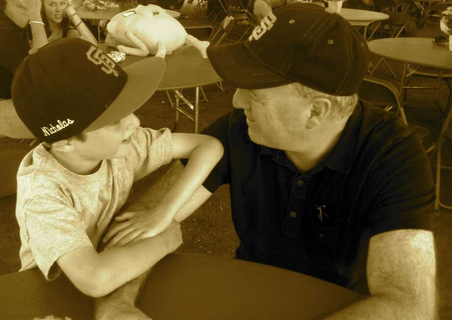 """Mutual admiration is what I would call this one. This was taken last year at Marin County Fair 4th of July weekend."""