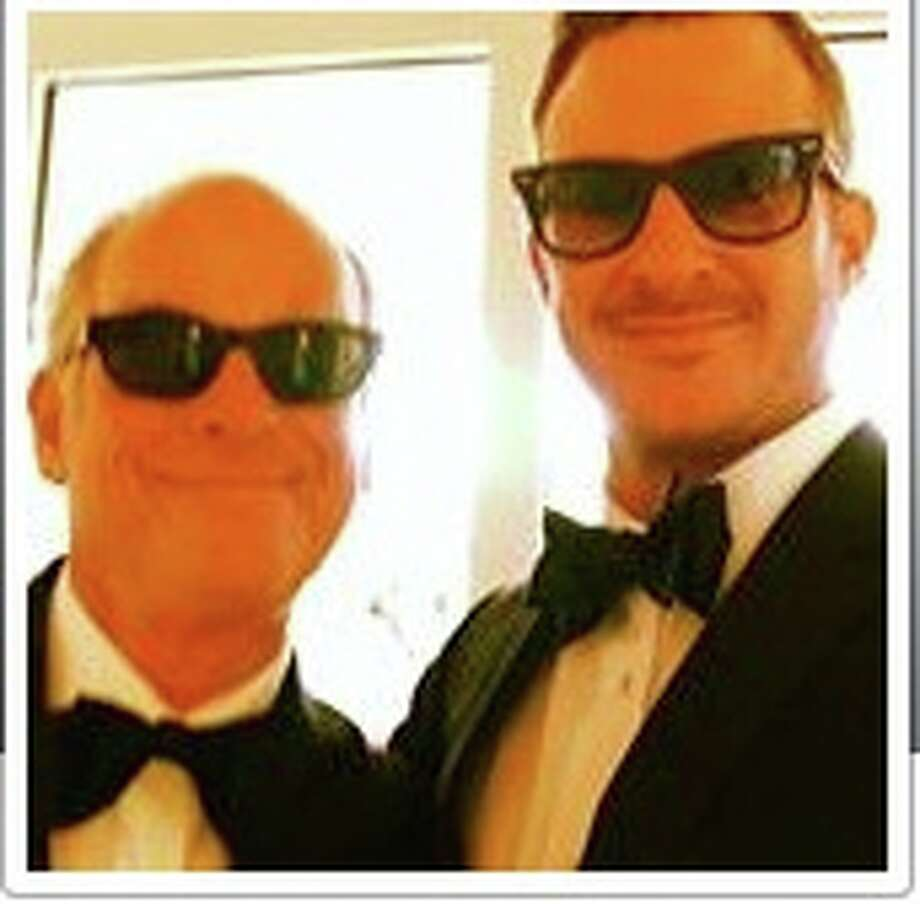 """""""Dad Paul Fingerote (L) and son Elliot Fingerote (R) at daughter Rachel's, wedding."""""""