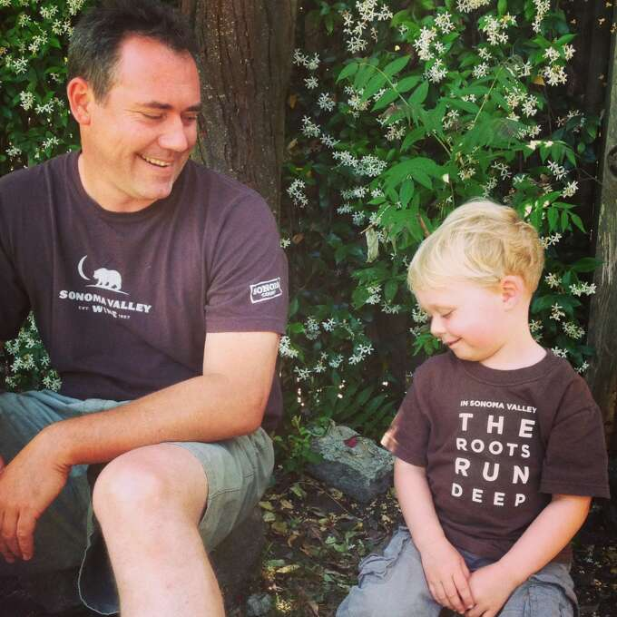 """""""Winemaker and future winemaker."""" Photo: Submitted By Hadley Larson"""