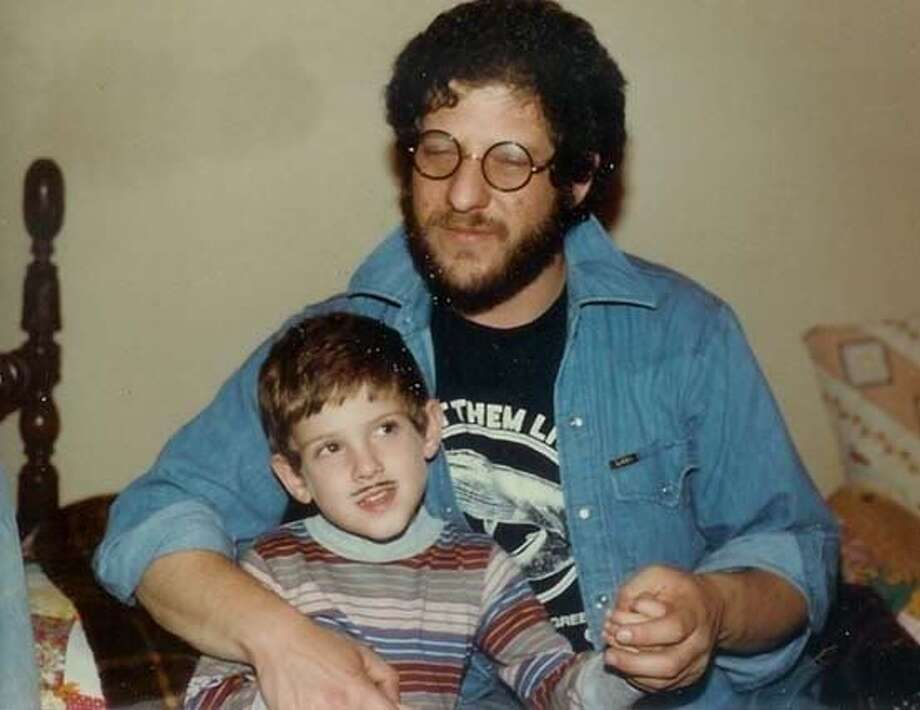 """Me and my pop in the early 80's. A couple of ladykillers."""