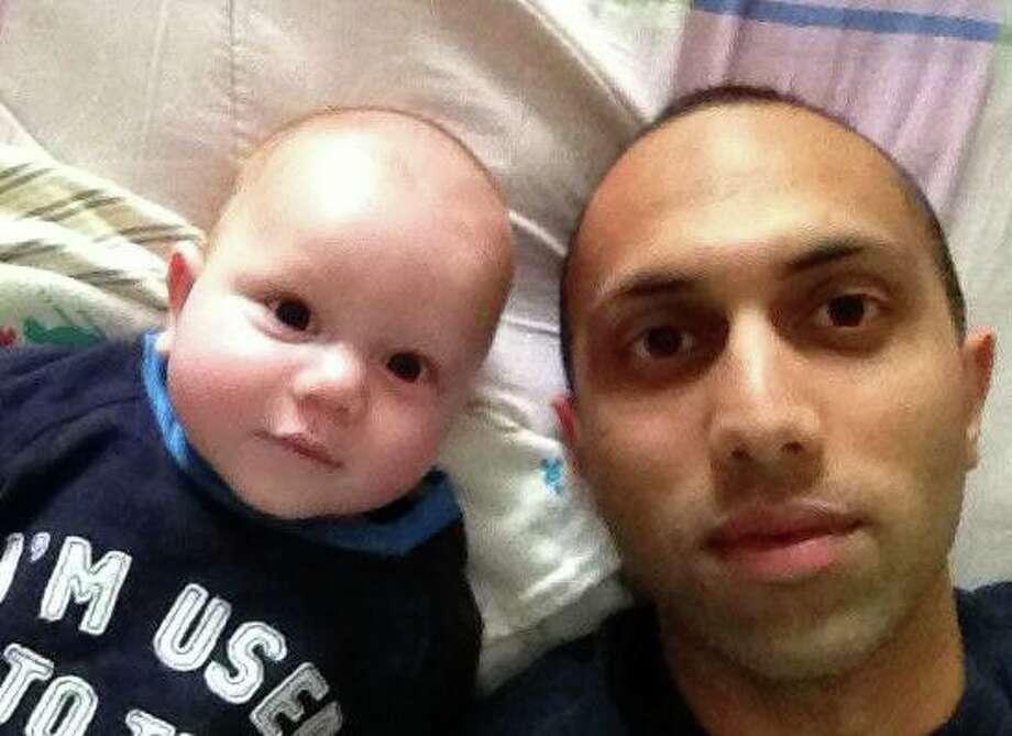 """""""Raj (Dad) and  Arjun (son) Chowdhary."""" Photo: Submitted By Raj Chowdhary"""