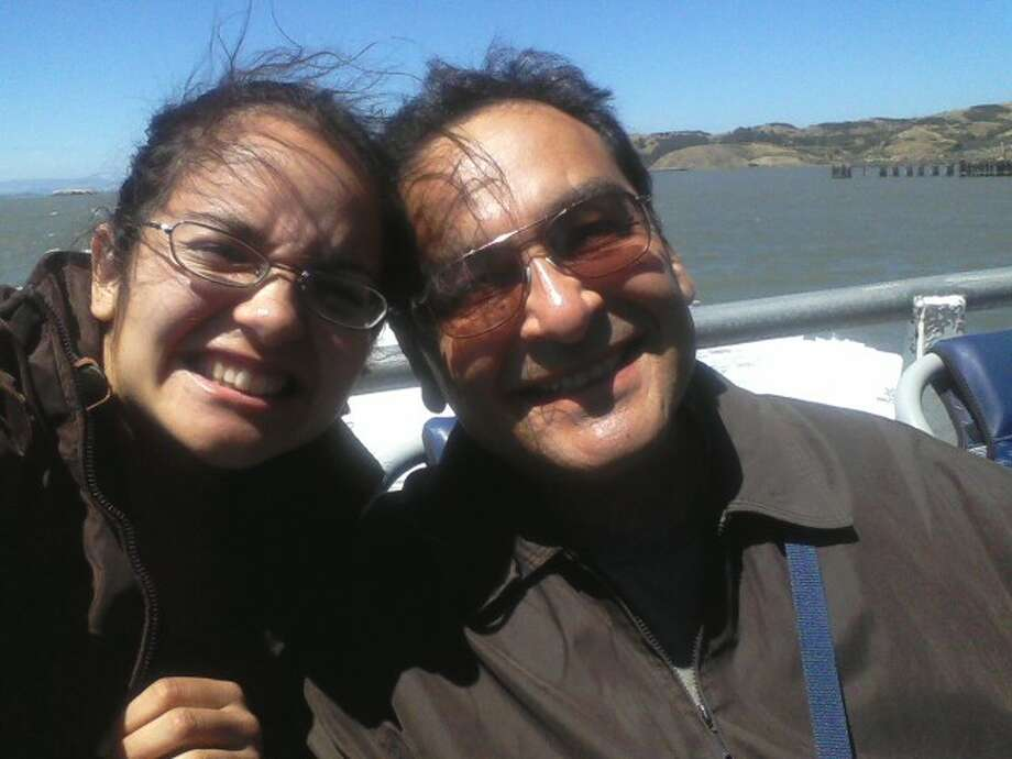 """I know you didn't ask for daughter photos, but I'd thought I'd share this one of me and my dad taking a ferry from Vallejo to S.F."" Photo: Submitted By Sonya Herrera"