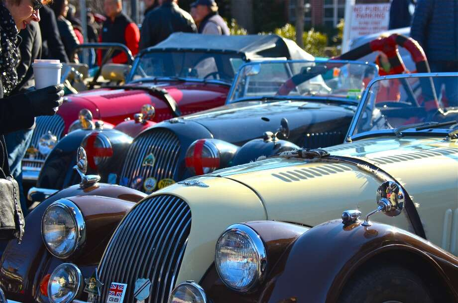 Several hundred car enthusiasts turned out for the Caffeine and Carburetors Car Show at Zumbach's,  which lined both Pine Street and Elm Street, on Sunday, April 6, 2014, in New Canaan, Conn. Photo: Freelance Photo