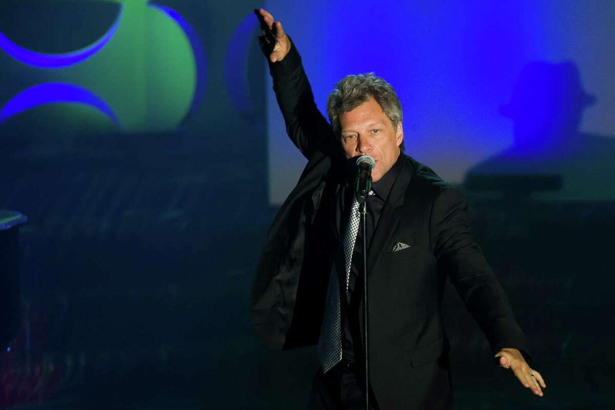 Jon Bon Jovi performs at the Songwriters Hall of Fame Awards on Thursday, June 12, 2014, in New York. (Photo by Charles Sykes/Invision/AP) ORG XMIT: NYCS116