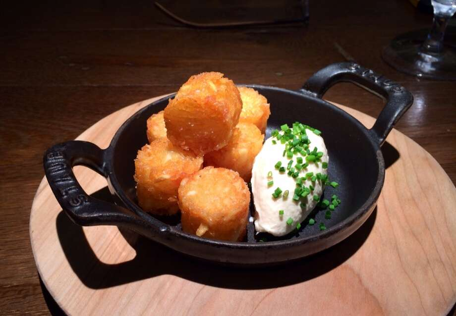Archetype, St. Helena: These tater tots are addictive. Served with onion dip ($5).