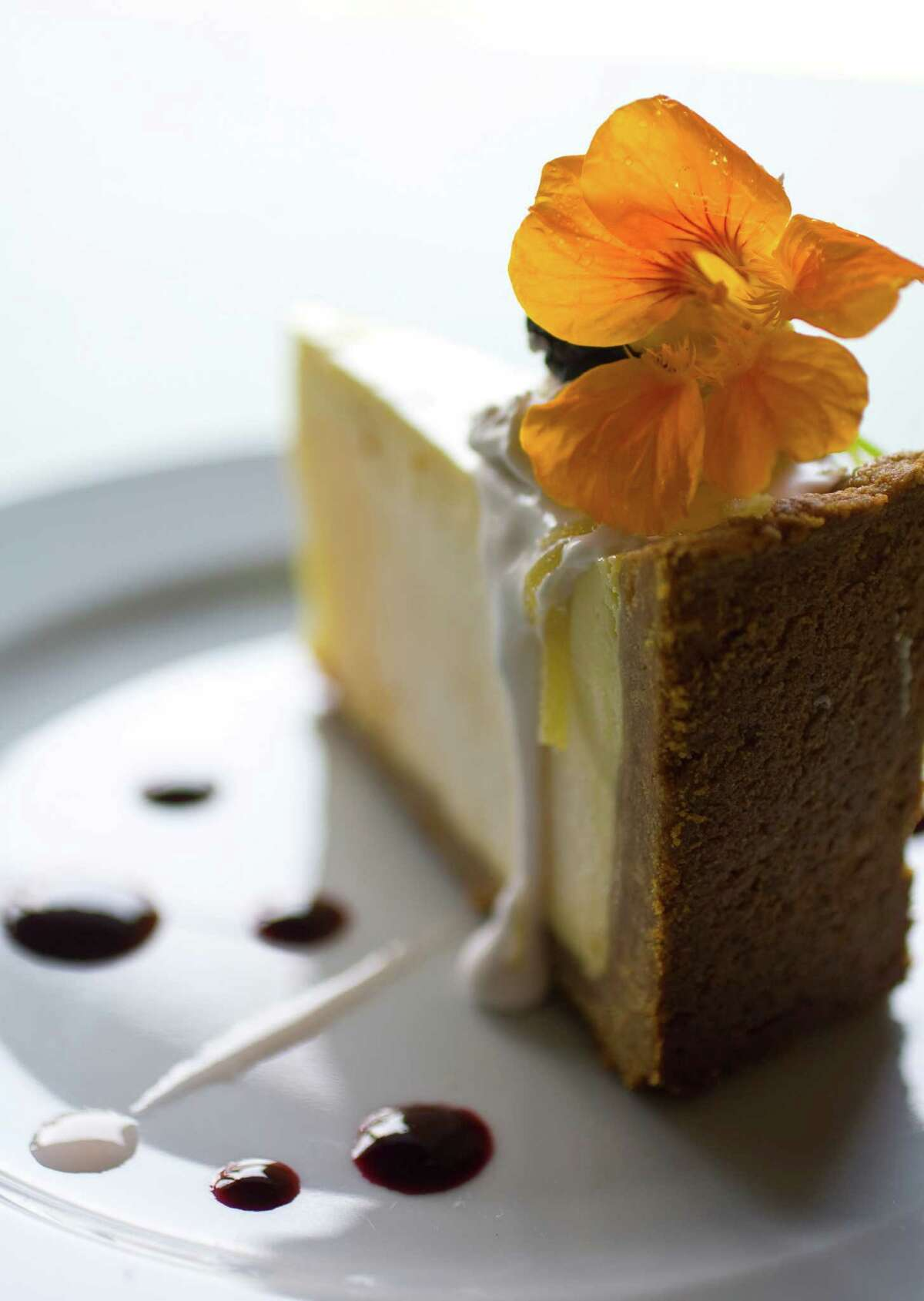 Cheesecake at Canopy restaurant.