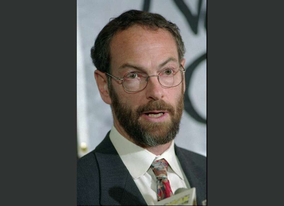 FILE - In this April 12, 1999 file photo, Dr. Richard Rockefeller speaks at a news conference in Portland, Maine, about his family's pledge of $3.2 million to the Maine chapter of the Nature Conservancy for its purchase of land on the Upper St. John River. A family spokesman said Rockefeller was killed Friday, June 13, 2014, after crashing his small plane near the Westchester County Airport in Purchase, N.Y. Richard Rockfeller, of Falmouth, Maine, was a great grandson of Standard Oil co-founder John D. Rockefeller. Photo: Robert F. Bukaty, AP / ap